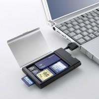 Кардридер с отделом для хранения карт памяти.