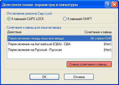 Как поменять клавиши переключения языка.